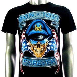 Bon Jovi Punk American Metal Rock Band T shirt Sz XL BO8 Men
