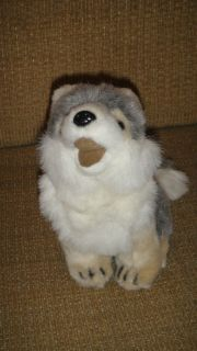 Defenders of Wildlife Gray White Wolf Howl Pose Stuffed Animal Plush