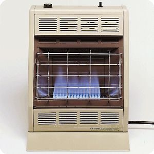 20K BTU BF20 Vent Free Blue Flame Thermostatic Natural / LP Gas Heater