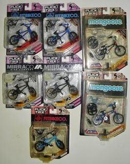 Trix 7 Sets Lot Mongoose Supergoose, Fitbikeco, Mirraco Finger Bikes