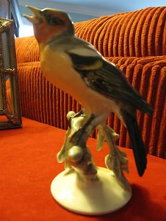 ROSENTHAL GERMANY SELB PRE WWII FINCH BIRD BRANCH FIGURINE HEIDENREICH