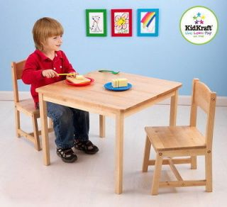 New KidKraft Kids Wooden Activity Table & Chair Set Solid Wood
