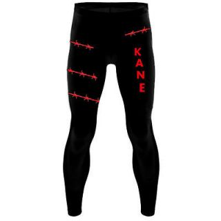 Wrestling Theme Kane Style Mens Fancy Dress Costume Outfit Party WWF