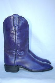 Beautiful HONDO BOOTS Womens PURPLE Leather Roper Western Boot Fits 7