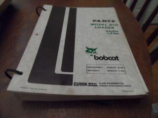 Bobcat 610 Loader Gas + L.P. Gas Loader Skid Steer Parts Catalog