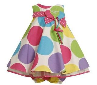 Bonnie Jean Baby Girls Multi Color Polka Dot 1st / 2nd Birthday Party