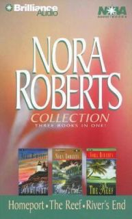 Nora Roberts HOMEPORT + RIVERS END + THE REEF Cass *NEW*