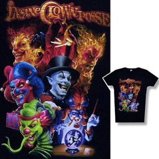 INSANE CLOWN POSSE JOKERS/GROUP BABYDOLL GIRLS T SHIRT SMALL ICP