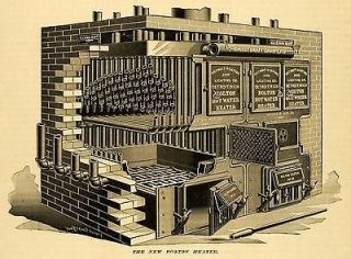 1891 Print Bolton Hot Water Heater No. 25 Detroit Heating Lighting Co