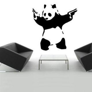 Banksy Panda Guns Graffiti Wall art Stickers Decal Decoration 9