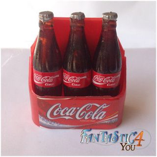 NEW 3 BOTTLE COCA COLA MAGNET MINIATURE SODA ICE COLD COOLER COKE SIGN
