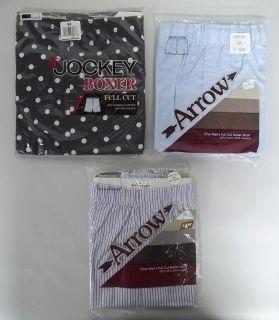 Vintage Arrow Jockey Mens Full Cut White Boxer Shorts size 44 (A46