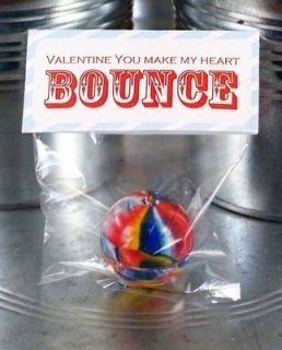 You Make My Heart Bounce Kids Valentines Day Cards w/ Bouncy Ball