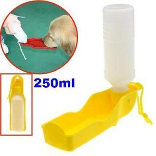 250ml Foldable Pet Dog Cat Water Drink Bottle Dispenser Feeder Bowl