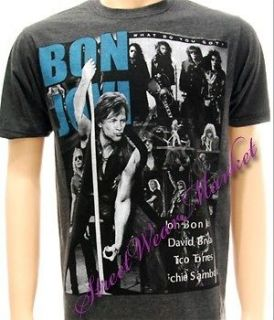 Bon Jovi American Metal Rock Vtg Women Men T shirt Sz L