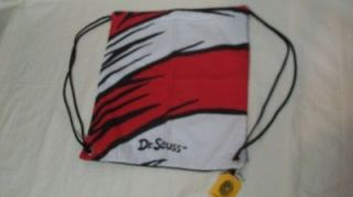 new CONVERSE Dr. Seuss red black & white canvas chinch bag back pack