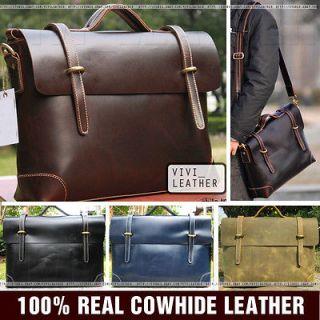 Business Work Large Vintage Laptop Satchel Messenger Bag Briefcase
