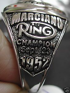 WORLD CHAMPIONSHIP RING BOXING ROCKY MARCIANO BELT SOLID STERLING