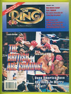 British Boxing RING Magazine 1994 LENNOX LEWIS FELIX TRINIDAD Hearns
