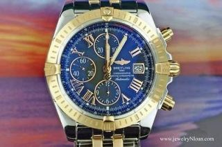 Mens Breitling Stainless Steel & 18K Rose Gold Chronomat Evolution