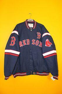 New MLB Boston Red Sox NASCAR style twill cotton jacket mens 4XL