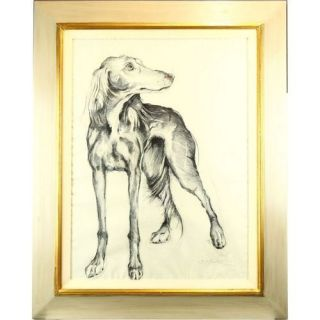 Brendan Hesmondhalgh Saluki Dog Pencil Sketch Drawing