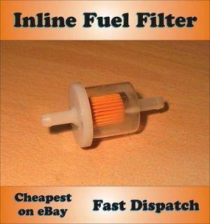 INLINE FUEL FILTER Petrol Diesel Dirt Bike Lawn Mower Small Engine