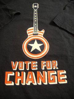 Bruce Springsteen Concert Music Shirt M Vote For Change 2004 Obahma