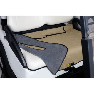 Golf Cart Seat Blanket Tan/Gray, from Brookstone