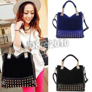 NEW Korean Fashion Women lady Rivet Tote Shoulder Messenger Handbag