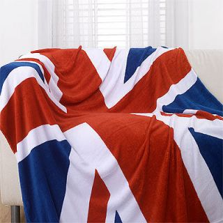 Union Jack / British Flag Luxury Super Soft Microfibre Throw, 150 x