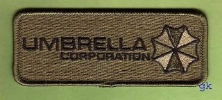RESIDENT EVIL UMBRELLA CORP. TAG PATCH ( subdued)