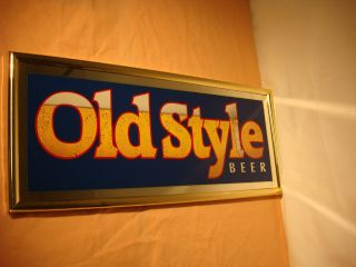 OLD STYLE BEER SIGN MIRROR BREWERY ADVERTISING BAR SIGNS VINTAGE RETRO