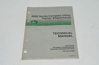 Deere Technical Manual Backhoe Snowblowers Rototillers Brooms TM1763