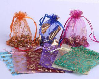 Random Mixed Organza Favor Wedding Jewelry Pouch Gift Wrap Bags XF