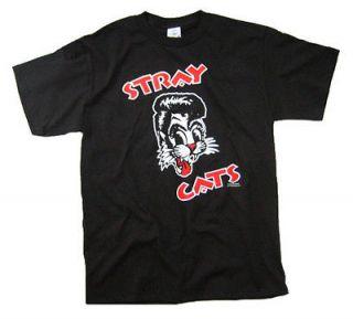 Stray Cats Brian Setzer Rockabilly T Shirt Black