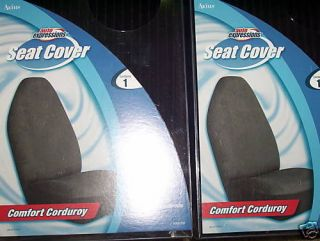 NEW FORD CHEVY DODGE BUCKET SEAT COVERS CAR TRUCK SUV VAN BLACK