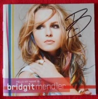 Bridgit Mendler HAND SIGNED CD GOOD LUCK CHARLIE AUTOGRAPH RARE!