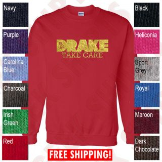 Take Care Drake CREWNECK sweatshirt OVOxo owl YMCMB lil wayne sweater