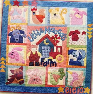 Little Maccas Farm   applique & pieced BOM quilt PATTERN set