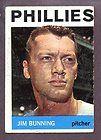 1964 Topps #265 Jim Bunning Philadelphia Phillies HOF Signed AUTO