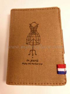 Lady Dress Rack Business Loyalty Credit Licence Card Holder Wallet