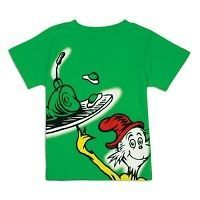 Dr Seuss T Shirt Green Eggs and Ham Big Graphic Green Cat Ham Toddler