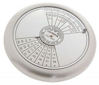 50 Year Calendar and Paperweight 2011 to 2060 Twist Dial
