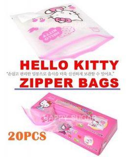 Hello kitty Sandwich Food Storage Kitchen zipper Bags Reusable Picnic