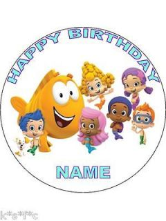 BUBBLE GUPPIES round cake topper 7.5 inches
