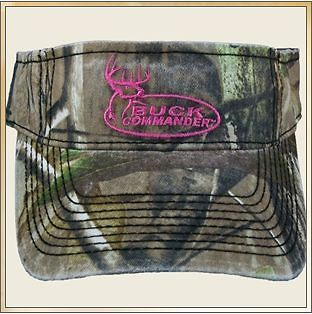 NEW BUCK COMMANDER DYNASTY AP GREEN CAMO VISOR WITH PINK LOGO HAT