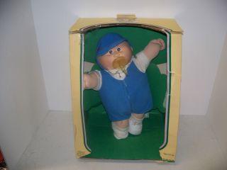 vintage cabbage patch kids doll PREMIE BLONDE HAIR BROWN eyes 1978