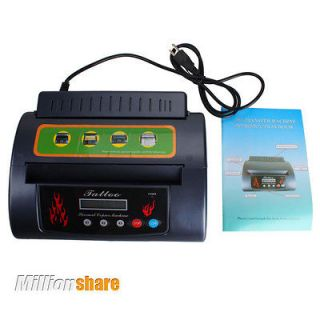 LCD Dispaly Flame Design Tattoo Stencil Thermal Copier