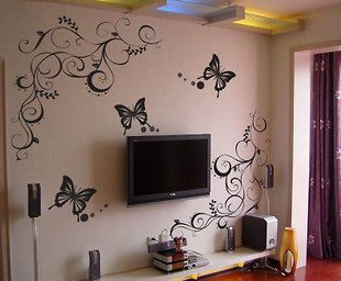 Butterfly Feifei Flower Stickers Wall Decal Removable Art Vinyl Decor